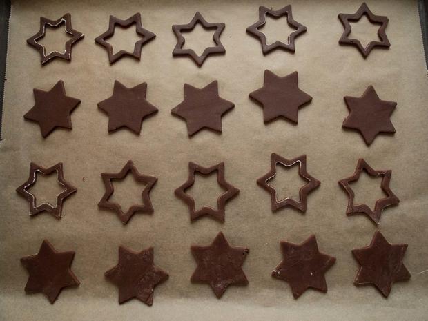 Plätzchen: Schoko-Quitten-Sterne - Rezept - Bild Nr. 3064