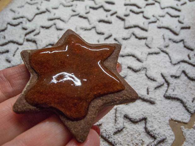 Plätzchen: Schoko-Quitten-Sterne - Rezept - Bild Nr. 3065