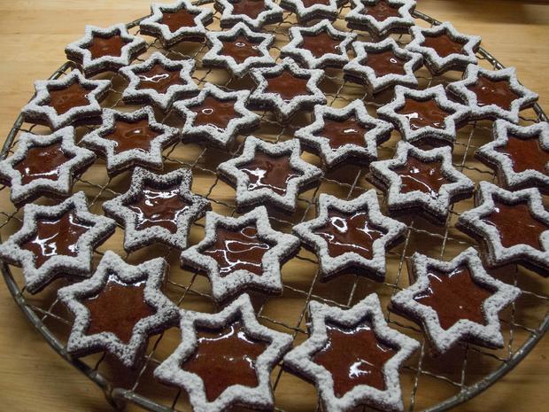 Plätzchen: Schoko-Quitten-Sterne - Rezept - Bild Nr. 3066