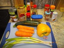 Wok Gemüse mit Garnelen, Lachs und Hähnchenbrust vom Teppanyaki - Rezept - Bild Nr. 3172