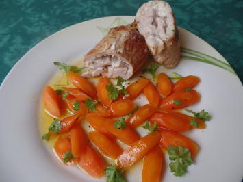 Rezept: Gefüllte Schnitzel mit Möhren