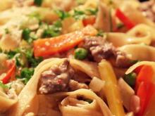 Pasta: Schnelle Nudeln mit Rindfleisch - Rezept - Bild Nr. 3174