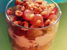 Trauben-Bulgur-Joghurt-Süßspeise oder Dessert im Glas - Rezept - Bild Nr. 3174