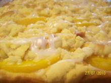 Kikis Pfirsichschnitten vom Blech - Rezept