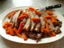 gekochtes Rindfleisch mit Dillsosse - Rezept