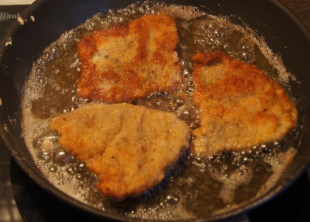 Kalbsschnitzel mit Süßkartoffel Pommes frites  - Rezept - Bild Nr. 3360