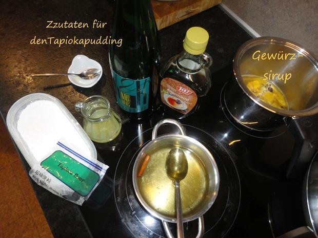 Tapioka Weisswein Orangen Pudding - Rezept - Bild Nr. 3450