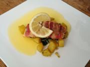 Lachs im Baconmantel mit Mangold und Kartoffel - Rezept - Bild Nr. 3418
