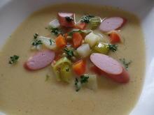 Gemüsecreme-Suppe mit Wiener - Rezept - Bild Nr. 3431