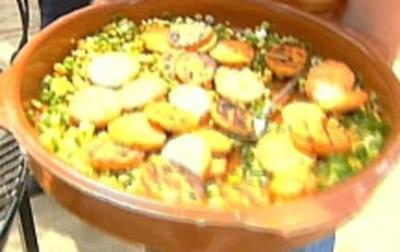 Salat aus gegrillten Süßkartoffeln - Rezept