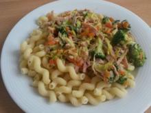 Nudeln mit Gemüse an einer Schinken - Frischkäsesauce - Rezept - Bild Nr. 3451