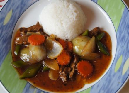 Wok-Kalbsleber mit Gemüse und Reis - Rezept - Bild Nr. 3453