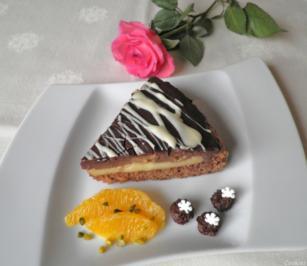 Rezept: Kleine Schokoladen - Orangen - Torte