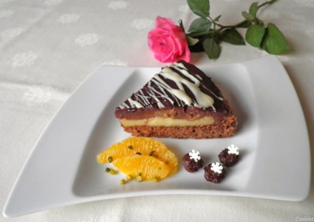 Kleine Schokoladen - Orangen - Torte - Rezept - Bild Nr. 3482