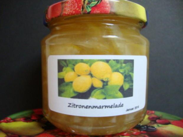 Zitronenmarmelade aus ganzen Früchten - Rezept - Bild Nr. 3524