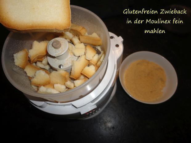 """Vegane """" Topfen """" Knödel in Nußbrösel auf Fruchtspiegel - Rezept - Bild Nr. 3529"""