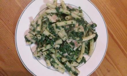 Gorgonzola-Spinat-Nudeln mit Lachs - Rezept - Bild Nr. 3529