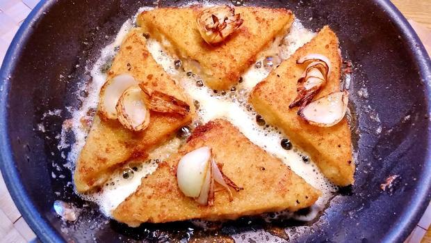 Dill-Rahmsoße zu gebratenem Fisch und Blattspinat - Rezept - Bild Nr. 3535