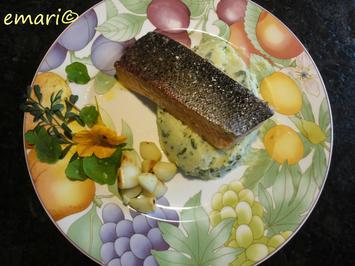 Lachsforelle auf Bärlauchpüree mit gebratenem Knoblauch - Rezept - Bild Nr. 3638