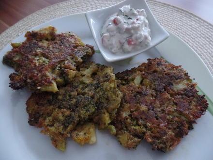 Broccoli-Puffer mit Tomatenqurak - Rezept - Bild Nr. 3655