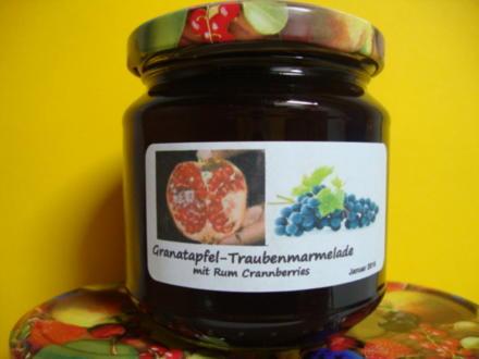 Granatapfelgelee mit Rum Cranberries - Rezept - Bild Nr. 3700