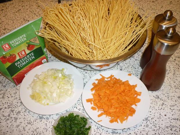 Spaghetti mit Tomaten - Hackfleisch - Soße  - Rezept - Bild Nr. 3713