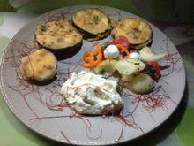 Auberginen im Teig mit einem Ricotta-Dipp - Rezept - Bild Nr. 3813