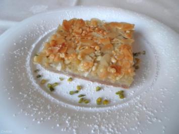 """Kleiner Apfelkuchen mit Mandelboden ... zugedeckt nach """"Florentiner Art"""" ... - Rezept - Bild Nr. 3831"""