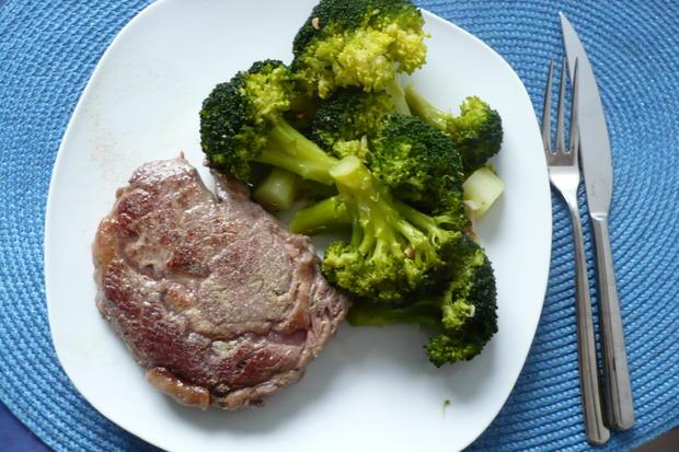 Entrecote mit Broccoli - Rezept - Bild Nr. 3877