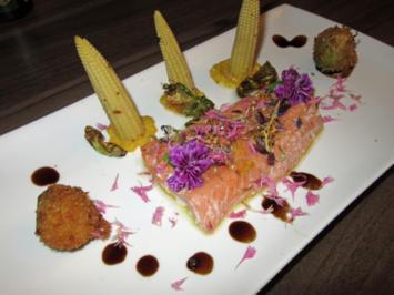 Rezept: Winterfisch - Gartenkräuter - Kornblume - Rosenkohl - Mais