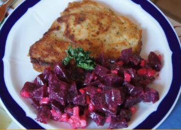 Rezept: Schollenfilet mit Rote Bete Salat