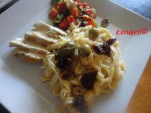 Mediterane Putenpfanne mit Parpadelle in Zitronensauce - Rezept - Bild Nr. 3949