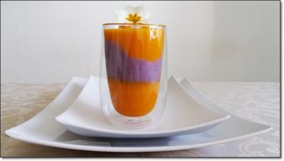 Hokkaido-Trüffelkartoffel-Cremesuppe in doppelwandigen Gläsern  serviert. - Rezept - Bild Nr. 4021