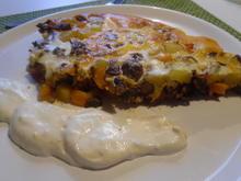 Kartoffel-Hackfleisch-Tortilla mit Joghurt-Dip und Salat - Rezept - Bild Nr. 4030