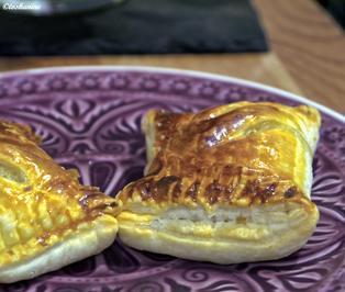 Blätterteigtaschen, mit Hackfleisch gefüllt - Rezept - Bild Nr. 4043