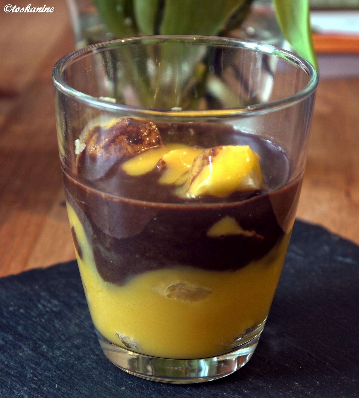 blitz dessert mit bananen rezept mit bild. Black Bedroom Furniture Sets. Home Design Ideas