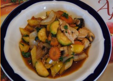Putenbrustfilet mit Wokgemüse - Rezept - Bild Nr. 4053