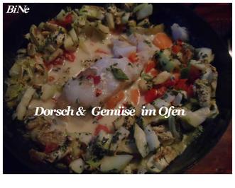 BiNe` S DORSCH & GEMÜSE IM OFEN - Rezept - Bild Nr. 4054