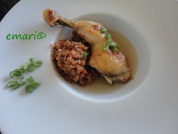 Rezept: Vermouth Hühnchen im Bratschlauch gegart