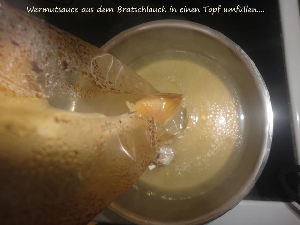 Vermouth Hühnchen im Bratschlauch gegart - Rezept - Bild Nr. 4061