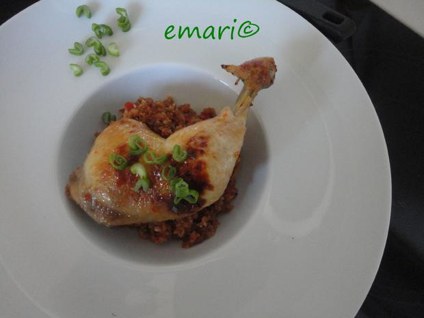 Vermouth Hühnchen im Bratschlauch gegart - Rezept - Bild Nr. 4065