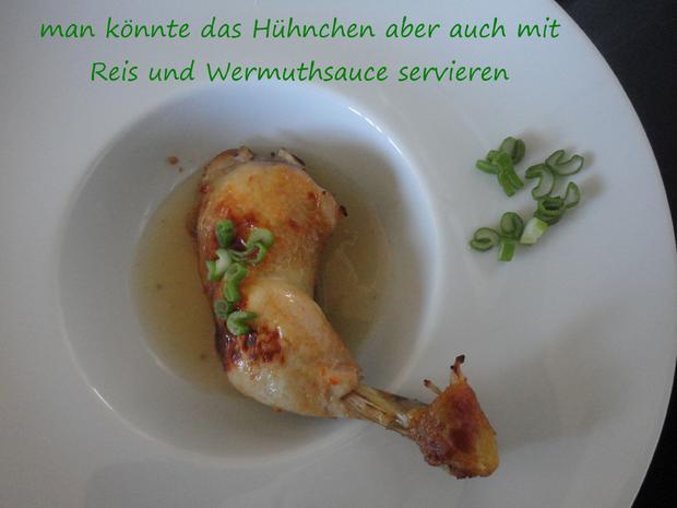 Vermouth Hühnchen im Bratschlauch gegart - Rezept - Bild Nr. 4066
