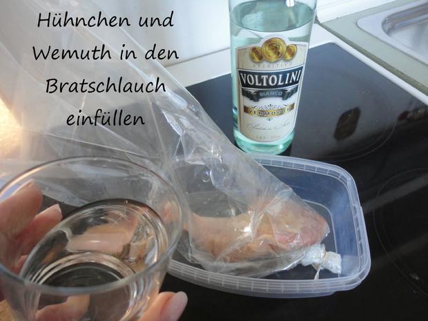 Vermouth Hühnchen im Bratschlauch gegart - Rezept - Bild Nr. 4074