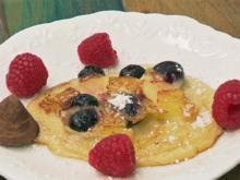 Norddeutscher Pfannkuchen an dreierlei Frucht - Rezept - Bild Nr. 4130