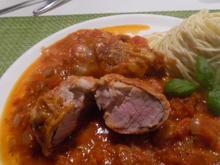 "Schweine-Medaillons ""Caprese"" mit Spaghettini - Rezept - Bild Nr. 4162"