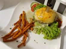 Blue-Cheese-Burger mit Bacon Marmelade - Rezept - Bild Nr. 4181