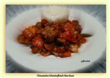 Rezept: Chinesisches Schweinefleisch Süss-Sauer