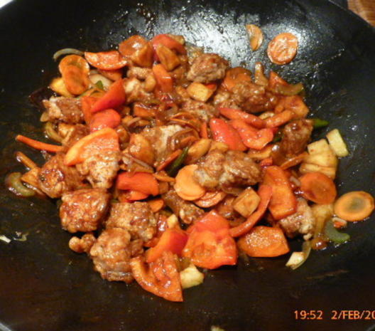 Chinesisches Schweinefleisch Süss-Sauer - Rezept - Bild Nr. 4186