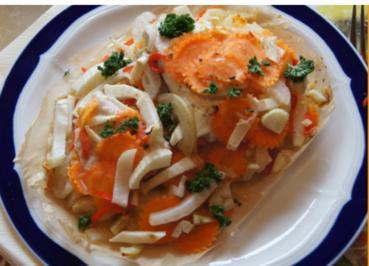 Hähnchenbrustfilet mit Fenchel-Gemüse im Backpapierpäckchen - Rezept - Bild Nr. 4200