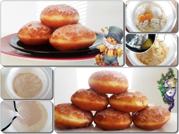 Goldbraun gebackene Faschingskrapfen mit feinem Fruchtaufstrich  gefüllt - Rezept - Bild Nr. 4216